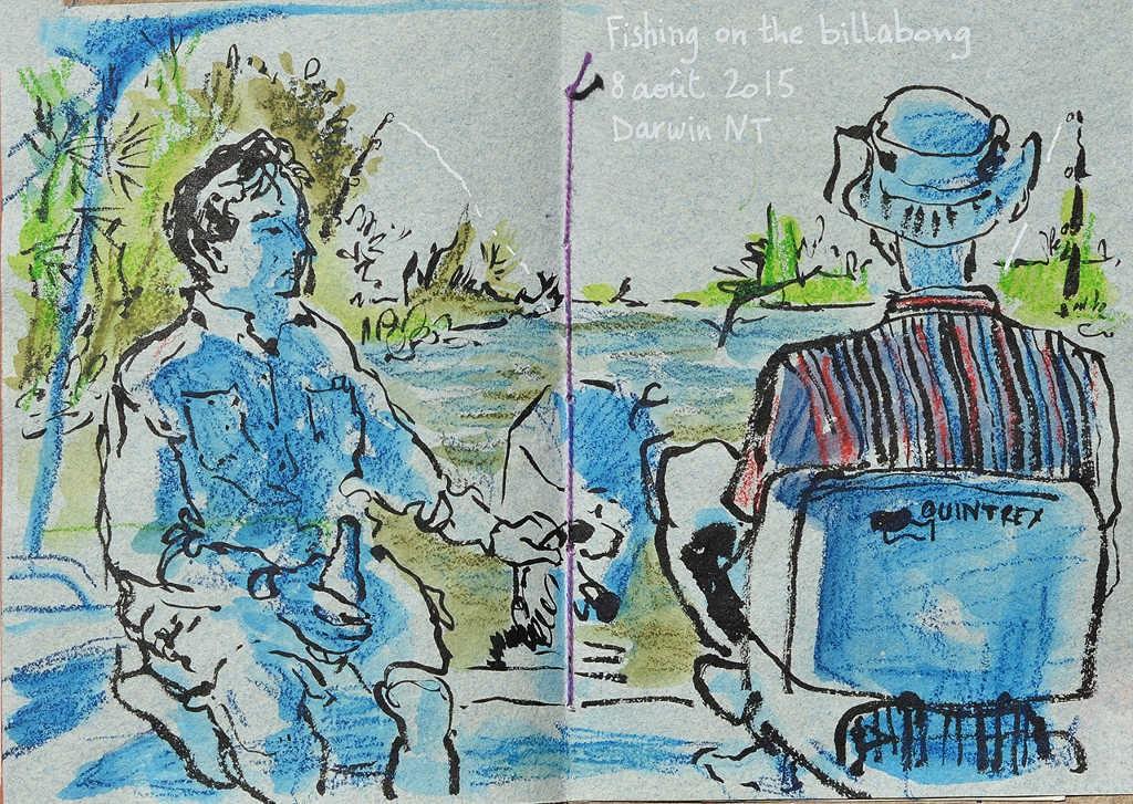 fishing on the billabong
